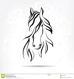 Polo Horse Logo Tattoo Stock horse head on a snowy. Horse Drawings, Art Drawings, Horse Head Drawing, Line Drawing, Painting & Drawing, Horse Logo, Horse Silhouette, Horse Art, Pyrography