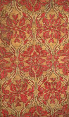18th Century Antique European Graphic Antique Spanish Textiles Pair of Panels