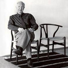 Designers in their chairs: Hans J. Wegner - Wishbone Chair (classic). #CH24 #Wishbone Chair, #Wegner