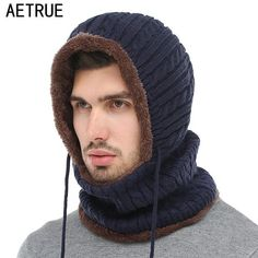 43783015454 AETRUE Winter Knitted Hat Beanie Men Scarf Skullies Beanies Winter Hats For Women  Men Caps Gorras