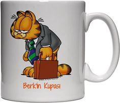 Garfield İşe Gidiyor-Kendin Tasarla - Beyaz Kupa