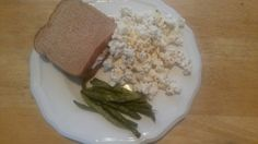 Dinner: Tuna on whole grain, kettle corn, roasted string beans, water