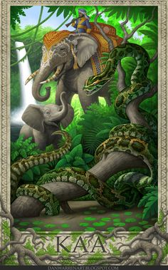 Jungle Book- Kaa by GoldenDaniel Kaa Jungle Book, Jungle Life, Arte Disney, Disney Art, Tarzan, Rudyard Kipling Jungle Book, Angels On Horseback, Book Libros, Crusader Knight