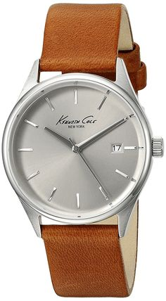 Kenneth Cole New York Women's 'Classic' Quartz Stainless Steel and Brown Leather Dress Watch (Model: 10026626) -- Continue to the watch at the image link.