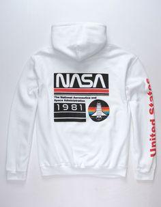 Brands In Limited NASA Modern Logo Pocket Sweat-Shirt Homme