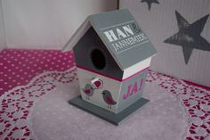 Een leuk vogelhuisje om te vieren dat Han en Jannemiek getrouwd zijn.