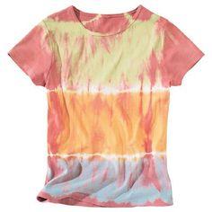 cooles Batikshirt in Pastellfarben