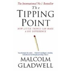 """The tipping point is that magic moment when an idea, trend or social behavior crosses a threshold, tips and spreads like wildfire."""" -Malcolm Gladwell, The Tipping Point Book Club Books, Book Nerd, Books To Read, My Books, Reading Lists, Book Lists, Reading Books, The Tipping Point, Historischer Roman"""