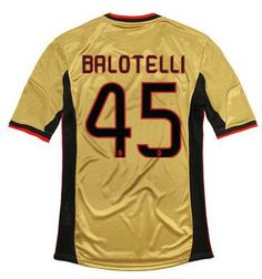 Maillot de Foot AC Milan (45 Balotelli) Third 2013 2014 jaune Pas Cher http://www.korsel.net/maillot-de-foot-ac-milan-45-balotelli-third-2013-2014-jaune-pas-cher-p-2937.html