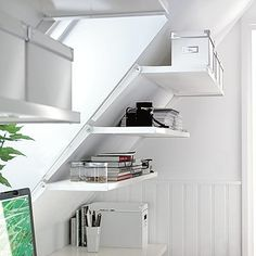Turn your attic into a storage utopia- here are some tips and options #storage #organization #decor