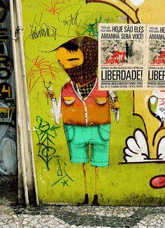 by Os gémeos Graffiti Art, Street Graffiti, Best Street Art, 3d Street Art, Stencil Art, Stencils, Pablo Picasso, Urban Art, My Canvas