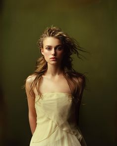 keira knightley. Gorgeous. The lighting, the background, the wind blown hair.