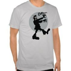 Zombie Needs Coffee Mens T-Shirt
