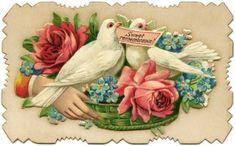 Victorian calling card, vintage ephemera, free vintage card, old fashioned visiting card, printable card bird flower