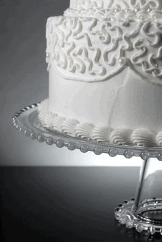 """13"""" Pedestal Clear Glass Cake Stand"""