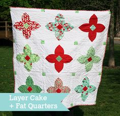 Stained Glass Quilt by Lauren Terry. Precut-friendly: Layer Cake + Fat Quarters