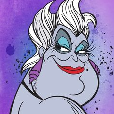 Villain Takeover - The deep dark of the sea is a frightening enough without Ursula! This sassy sea witch is manipulative, preys on the… Disney Pop, Ursula Disney, Disney Fan Art, Disney Magic, Disney Movie Club, Disney Movies, Live Wallpaper Iphone, Disney Wallpaper, Disney Villains Art