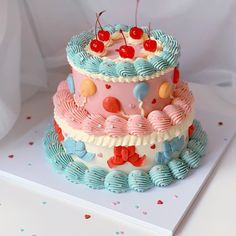 Pretty Cakes, Cute Cakes, Yummy Cakes, Fancy Cakes, Mini Cakes, Frog Cakes, Cute Birthday Cakes, Caking It Up, Cute Desserts