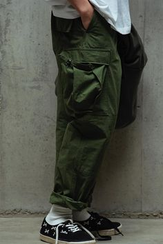 YUNY Mens Military Camo Straight Leg Casual Trousers Loose Cargo Pants Army Green 3XL