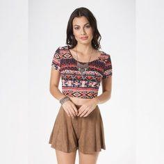 Compraria qual Peça ?   Blusa cropped étnica  COMPRE AQUI!  http://imaginariodamulher.com.br/look/?go=2fTAKM9  #comprinhas #modafeminina#modafashion  #tendencia #modaonline #moda #instamoda #lookfashion #blogdemoda #imaginariodamulher