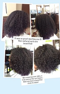 What an exciting change for someone who has never worn her natural hair out. Only straightened or pulled back!