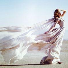 """ The dress must follow the body of a woman "" #evening_gown by  #LloydKlein #fashionweek #Padgram Beach Photography, Fashion Photography, Dress Wind, Venus Painting, She Walks In Beauty, Bride Of Christ, Beach Shoot, Fantasy Dress, Foto Art"