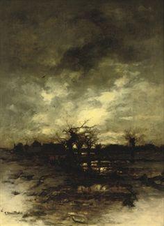 LUDWIG MUNTHE (NORWEGIAN, 1841-1896) SUNRISE IN WINTER