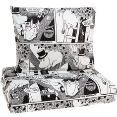 Sarjakuva Moominpappa double duvet cover set by Finlayson.