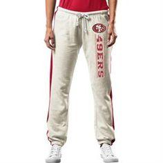Majestic San Francisco 49ers Women's Gray Strong Play Fleece Pants