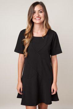Seams Good To Me Black Dress
