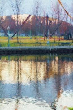 """""""Hinting At Spring"""" by Terry Davis #Spring #Impressionistic #Painting #Scenery #Light #Stockton #California"""