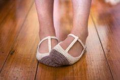 crochet maryjane slippers