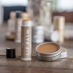 Make your own organic lip balm with this recipe and printable labels.