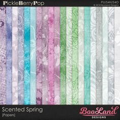 Scented Spring -Paper Pack By BooLand Designs