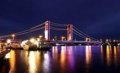Ampera Bridge at night ~ South Sumatera #fb #travel