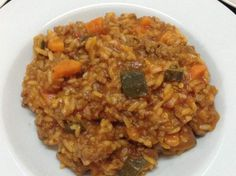 Italian Beef risotto - chop veg 3 secs sp 5 at start - needs 500g mince -'a family favourite'