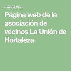 Página web de la asociación de vecinos La Unión de Hortaleza