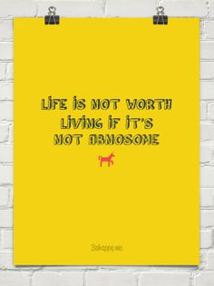 Life is not worth living if it's not abnosome #gishwhes #theweepingangelslovestigerfestival Absonome!