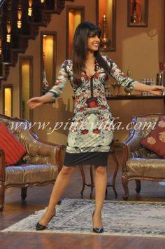 Priyanka Chopra on the sets of Comedy Nights with Kapil