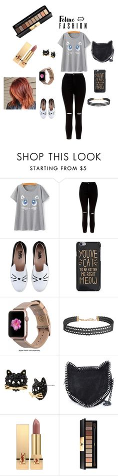 """""""cat🐺"""" by ananya-negi ❤ liked on Polyvore featuring New Look, Karl Lagerfeld, Monowear, Humble Chic, Betsey Johnson, STELLA McCARTNEY and Yves Saint Laurent"""