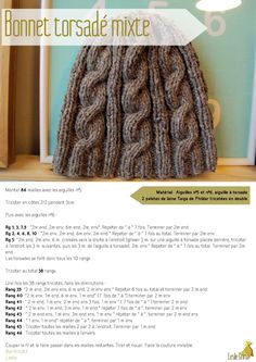 Publishing platform for digital magazines, interactive publications and online catalogs. Convert documents to beautiful publications and share them worldwide. Title: Bonnet torsadé mixte, Author: Leslie Grima, Length: 3 pages, Published: Knit Art, Free Pattern, Knit Crochet, Knitting Patterns, Sewing, Hats, Diy, Images, Tourbillon