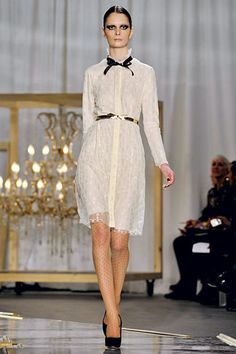 The polka dot print on nude sheers are just surreal! Leave it to Jason Wu to take us to the edge!