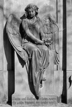 Beautiful angel. Ohlsdorfer Cemetery, Germany