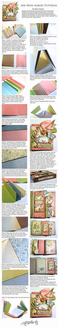 6x6 Mini Album Tutorial by Keri Sallee for graphic45