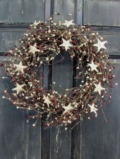 Cool Rustic Wreaths Christmas Decoration Ideas13