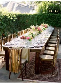 Long Table Loveliness By BridalHood