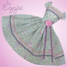 Misty Garden  - Vintage Barbie Doll Dress Reproduction Repro Barbie Clothes