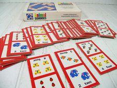 Vintage Animal Dominoes Game  Retro Childrens by DivineOrders