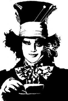 Mad Hatter Stencil Related Keywords & Suggestions - Mad Hatter ...