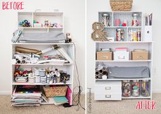Simple and inexpensive solutions to getting organized! Love this!